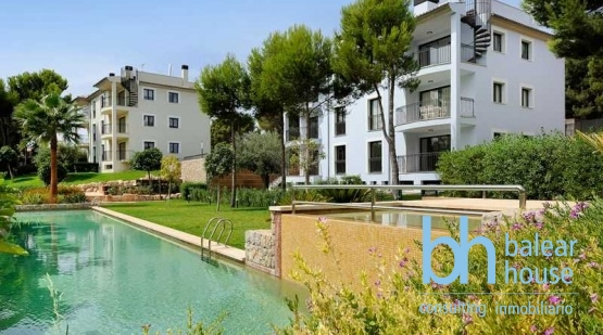 Apartments in idyllic green area close to the beach of Camp de Mar